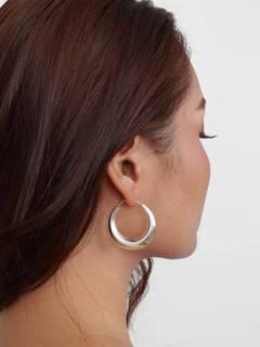 Silver Hoops and Earrings - Pair of PLARP35 sterling silver hoops.