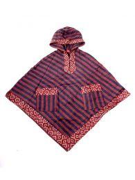 Sudaderas chicas - Poncho de telas étnicas POEV01 - Modelo Marrón