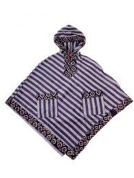 Sudaderas chicas - Poncho de telas étnicas POEV01 - Modelo Negro