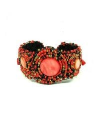Wide ethnic multi-bead bracelet PUAB01 to buy wholesale or detail in the category of Hippie Clothing for Women.