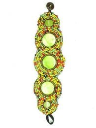 Ampio braccialetto etnico multi-perline, da acquistare all'ingrosso o dettaglio nella categoria Gioielli etnici alternativi Hippie e argento | Negozio online ZAS. [PUAB04]