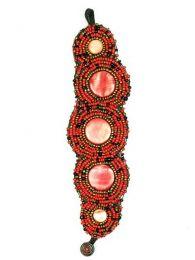 Bracciale etnico largo multi perline PUAB04 da acquistare all'ingrosso o dettaglio nella categoria di gioielli alternativi etnici hippie e argento | Negozio online ZAS.