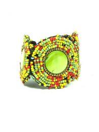Bracciale etnico multi-perline largo, da acquistare all'ingrosso o dettaglio nella categoria di Abbigliamento Hippie Donna | Negozio alternativo ZAS. [PUAB04]