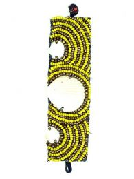 Wide ethnic bracelet multi shell beads, to buy wholesale or detail in the category of. [PUAB07]