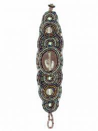 Pulsera étnica ancha multi cuentas piedra, para comprar al por mayor o detalle  en la categoría de Bisutería y Plata Hippie Étnica Alternativa | ZAS Tienda Online.[PUAB09]