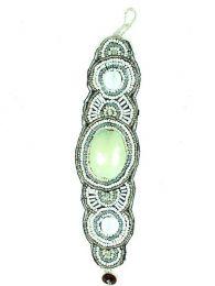 Bracciale etnico largo multi perle di pietra PUAB09 da acquistare all'ingrosso o dettaglio nella categoria Gioielli e argento Hippie alternative etniche | Negozio online ZAS.