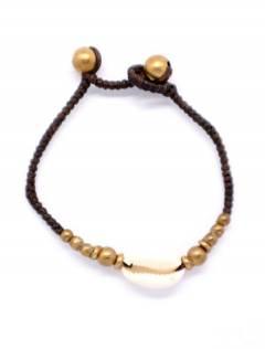 Bracelet en macramé et laiton avec coque PUAM01 pour acheter en gros ou en détail dans la catégorie Bijoux et Argent Hippie Ethnique Alternative | Boutique en ligne ZAS.