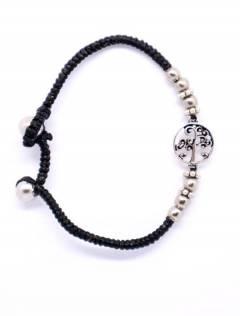 Bracelet en macramé et laiton avec arbre de vie, à acheter en gros ou en détail dans la catégorie Accessoires de mode Bohemian Hippie | ZAS. [PUAM03-P]