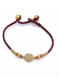 Bracelets Hippie Ethniques - Bracelet en macramé et laiton avec Mandala [PUAM05-D] à acheter en vrac ou en détail dans la catégorie Bijoux Ethniques Hippie Alternatifs.