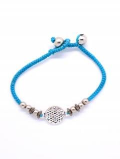 Macrame and brass bracelet with Mandala, to buy wholesale or detail in the Alternative Ethnic Hippie Jewelry and Silver category | ZAS Online Store. [PUAM05-P]