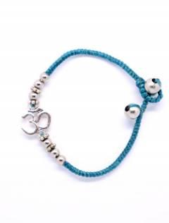 Bracelet en macramé et laiton avec OM PUAM06-P pour acheter en gros ou en détail dans la catégorie Bijoux Ethniques Hippie Alternative et Argent | Boutique en ligne ZAS.