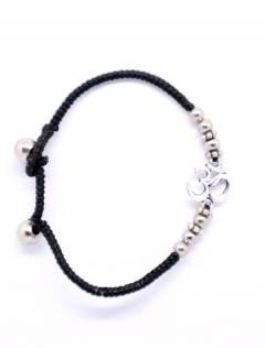Armband aus Makramee und Messing mit OM PUAM06-P zum Kauf von Großhandel oder Details in der Kategorie Ethnic Hippie Alternative Jewelry und Silver | ZAS Online Store.
