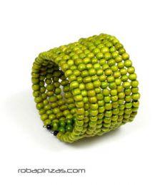 Pulsera ancha multilíneaen Mod Verde