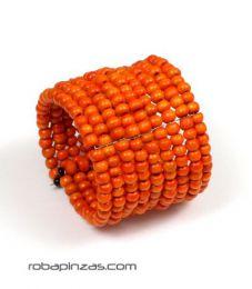 Pulsera ancha multilíneaen Mod Naranja