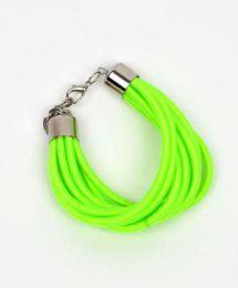 pulsera gruesa de hilo multivueltas Mod Verde fosfi