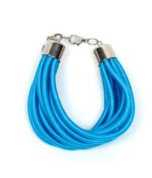 pulsera gruesa de hilo multivueltas Mod Azul