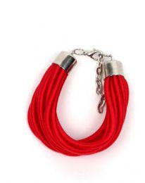 pulsera gruesa de hilo multivueltas Mod Rojo