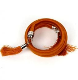 Outlet Bisutería hippie - pulsera gruesa de hilo multivuelta PUBOU06 - Modelo Marrón