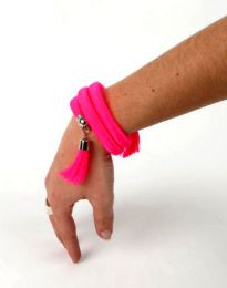 Outlet Bisutería hippie - pulsera gruesa de hilo multivuelta PUBOU06.
