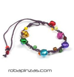 Pulsera hippie de cascabeles detalle del producto