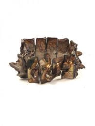 Pulseras Hippie Etnicas - Pulsera elástica conchas PUCB03 - Modelo Marrón