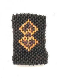 Pulseras Hippie Etnicas - Pulsera ancha de mini bolas PUCG3 - Modelo 146