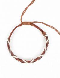 pulsera cuero ondulada, detalle del producto