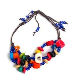 Pulsera hippie hecha a mano Mod Azul