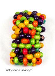 Pulsera hippie bolas colores, realizada con bolas de madera sobre. Pulseras Hippie Etnicas para comprar al por mayor o detalle  en la categoría de Bisutería y Plata Hippie Étnica Alternativa | ZAS Tienda Online.  [PUFA02]