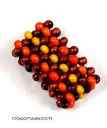 Pulsera hippie bolas colores, realizada con bolas de madera sobre PUFA02 para comprar al por mayor o detalle  en la categoría de Bisutería Hippie Étnica Alternativa.