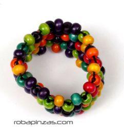 Pulseras Hippie Etnicas - Pulsera hippie bolas colores, PUFA02.