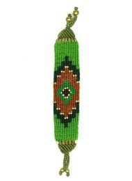 Pulsera hippie étnica Mod Verde