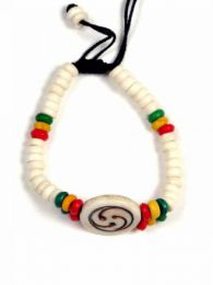 Pulseras Hippie Etnicas - pulsera hippie hueso motivos PUHU21 - Modelo 155