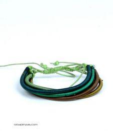 Pulsera algodón rígida multicolor 5 lineas PULI01 para comprar al por mayor o detalle  en la categoría de Bisutería y Plata Hippie Étnica Alternativa | ZAS Tienda Online.