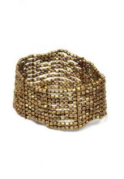 Wide bracelet with silver, golden lines or a combination of various colors, PUMG07 to buy wholesale or detail in the category of Hippie Clothing for Women.