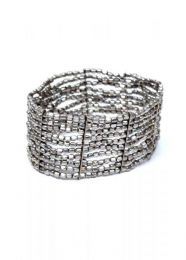 Wide bracelet silver, gold lines or combination of various colors, PUMG07 to buy wholesale or detail in the category of Alternative Ethnic Hippie Jewelery.