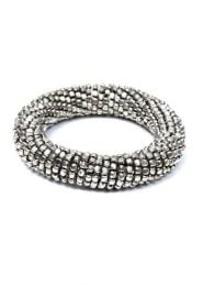 Thick silver beads bracelet, bracelet made by setting a crowd, to buy wholesale or detail in the category Hippie and Alternative Clothing for Men | ZAS Hippie Store. [PUMG09]