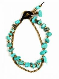 Turquoise brass balls bracelet PUMS08 to buy wholesale or detail in the category of Alternative Hippie Accessories.