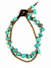 Türkis Messing Ball Armband PUMS08 zu kaufen Großhandel oder Detail in der Kategorie Ethnic Hippie Alternative Jewelry und Silber | ZAS Online Store.