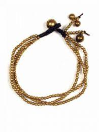 Bracelet multitours boules en laiton rhodié, acheter en gros ou détail dans la catégorie Hippie et vêtements alternatifs pour hommes | Boutique ZAS Hippie. [PUMS10]