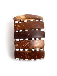 Pulsera ancha de madera y cuantas de colores, elástica PUPA07B para comprar al por mayor o detalle  en la categoría de Bisutería Hippie Étnica Alternativa.