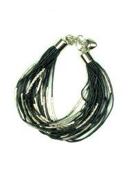 Pulsera pulsera multivueltas plata, para comprar al por mayor o detalle  en la categoría de Ropa Hippie de Mujer   ZAS Tienda Alternativa.[PUPA12]