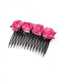 Cintas para el pelo - Peineta de Flores [PZFLP01] para comprar al por mayor o detalle  en la categoría de Complementos Hippies Alternativos.