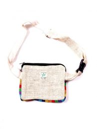 Two-color hemp bum bag RIHC02 to buy in bulk or in detail in the category of Alternative Hippie Accessories.