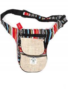Saco de cinto de cânhamo, para comprar por atacado ou detalhe na categoria de acessórios de moda hippie boêmio | ZAS. [RIKA05]