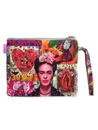 Neceser/Sobre Grande Estampados Frida Kahlo. SOMEPO para comprar al por mayor o detalle  en la categoría de Complementos Hippies Alternativos.
