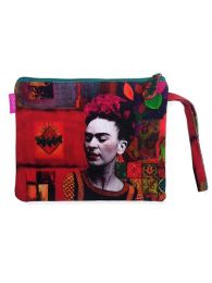 Frida Kahlo printed toiletry bag / envelope. SOMEPO to buy wholesale or detail in the category of Bohemian Hippie Fashion Accessories | ZAS.