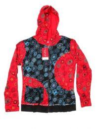 Sudadera bicolor con capucha Mod Rojo