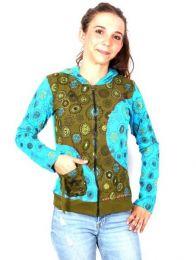 Sudaderas chicas - Sudadera con detalles Bordados [SUEV05] para comprar al por mayor o detalle  en la categoría de Ropa Hippie Alternativa para Mujer.