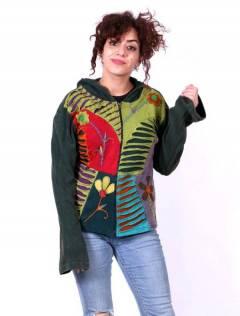 Sudadera Patch rasgado y croché [SUEV07B]. Sudaderas chicas para comprar al por mayor o detalle  en la categoría de Ropa Hippie Alternativa para Mujer.